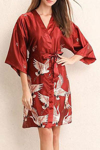 Home Service Summer Silk Silk Sleeve Pajamas