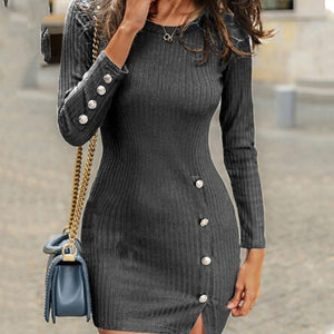 Sexy Long Sleeve Bodycon Sweater Dress