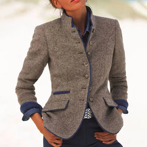 Women's Vintage Collar Long Sleeve Jacket