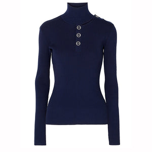Womens Casual High Collar Stylish Sweater