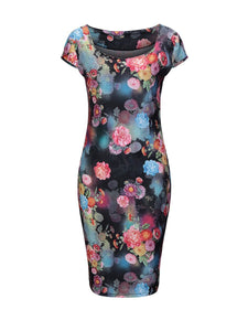 Sweet Heart Floral Printed Charming Bodycon Dress