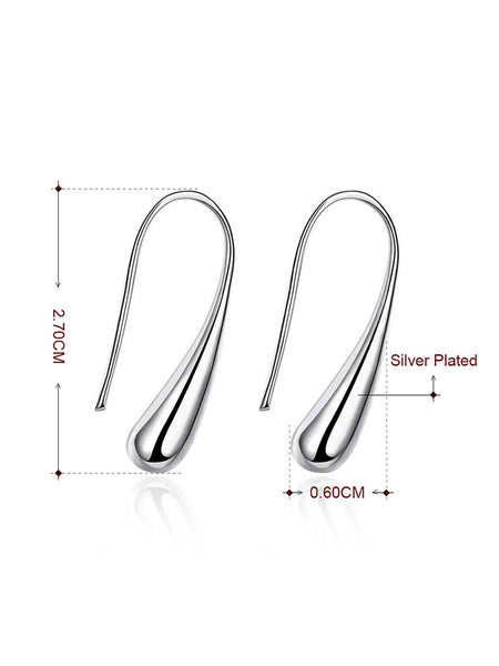 Alloy Drop Designed Earrings