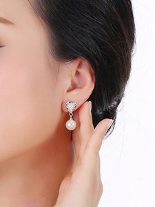 Alloy Plated Beads Earrings