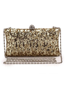 Luxurious Glitter Evening Chain Clutch Bag