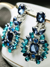 Celebrity Faux Crystal Drop Earrings