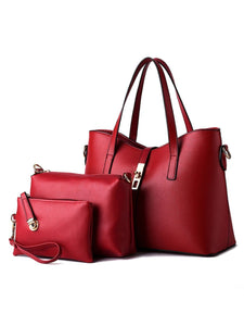 Three Pieces Pu Classic Shoulder Bag