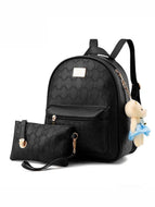 Two-Piece Embossed Pu Backpack Bag