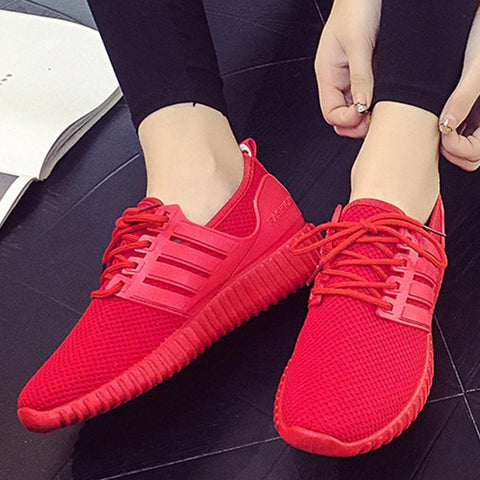 Plain  Flat  Criss Cross  Round Toe  Sport Sneakers
