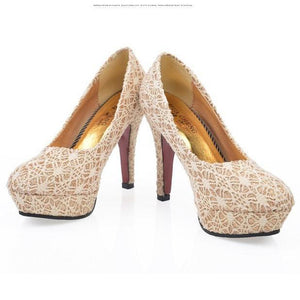 Elegant High-Heeled Wedding Shoes