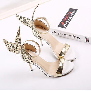 Butterfly Wings Wedding High Heel Sandals