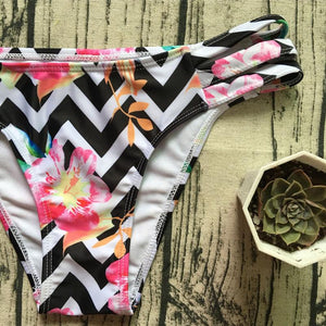 Colorful Stripe Printed Swimsuit
