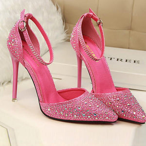 Sweet Shining Diamond High Heel Wedding Shoes