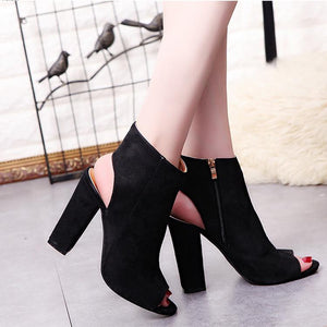 Fish Mouth Solid Color High Heel Shoes