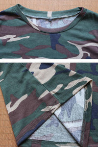 Round Neck Short Sleeves Camouflage T-Shirts