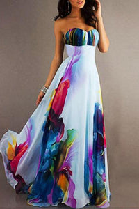Digital Printed Bohemian Maxi Dress