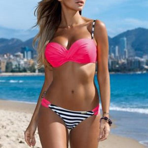 Sexy Candy Color Bikini Set Swimwear
