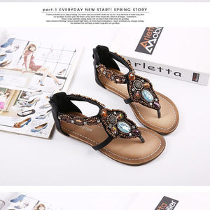 Bohemia Style Sandal Flat Beach Shoes