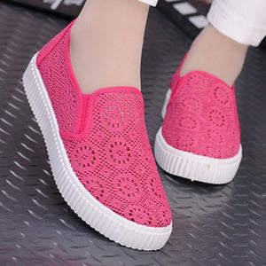 Lace  Flat  Lace  Round Toe  Casual Sport Sneakers