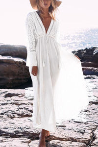 Casual Lace Beach Vacation Maxi Dress