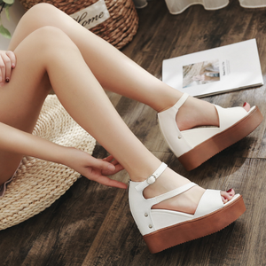 Adjustable Buckle Casual Summer Wedge Heel Sandals