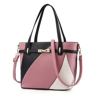 Fashion Colorblock Hand Bag