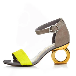 Women's Shoes Chunky Heel Open Toe Buckle PU Sandals