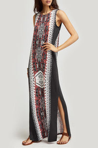 Fashion Ethnic Style Printed Sleeveless Maxi Dresses