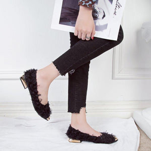 Pointed Shallow Mouth Flat Hot Shoes