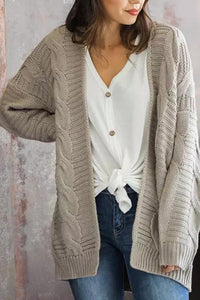 Loose Fitting  Plain  Casual Cardigans