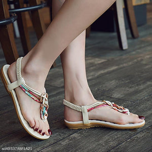 Flat With Bohemian Buckle Beach Women's Shoes Flat Sandals