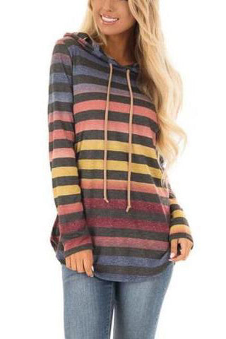 Colorblock Pullover Hoodie Sweatshirt Top