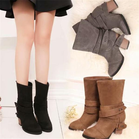 Fashion Winter Suede High Boots