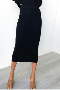 Hang Stripes Sexy High Waist Trim Hip Skirt