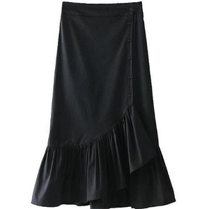 Elegant High Waist Flouncing Irregular Skirt