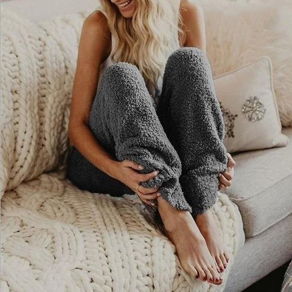 Soft Casual Plain Home Pants