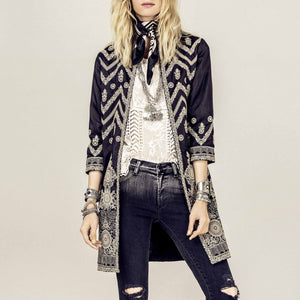 Printed Color Long Sleeve Jacket