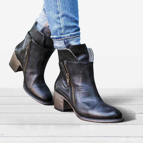 Fashion Leather Durable Women's Boots Shoes