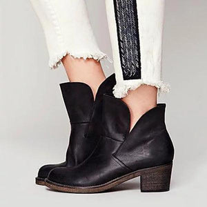 Fashion Winter Leather Women Boots