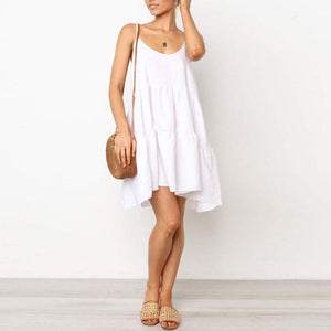 Spaghetti Strap  Plain  Sleeveless Casual Dresses