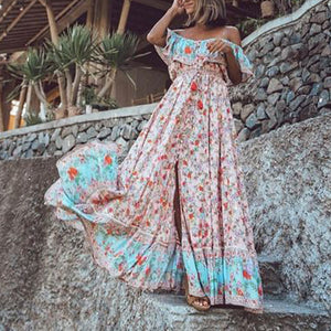 Women's Bohemian Skirt Print Skirt Maxi Dress