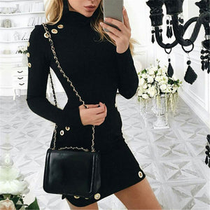 Sexy Long Sleeve Slim Bodycon Dress