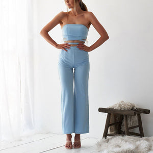 Sexy Off Shoulder Plain Slim Midriff Baring Jumpsuit