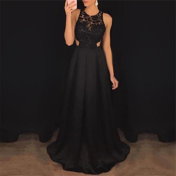 Sexy Sleeveless Hollow Out Evening Dresses