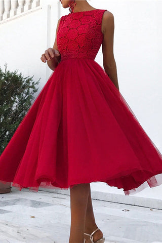 Fashion Chiffon With Round Collar Skater Evening Dresses