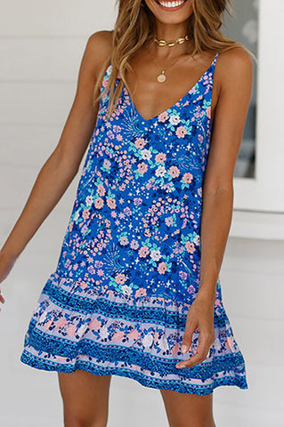 Women's Bohemian Printed Leisure Holiday Garment Casual Dress