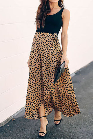 Printed And Cut Fashion Long Skirts