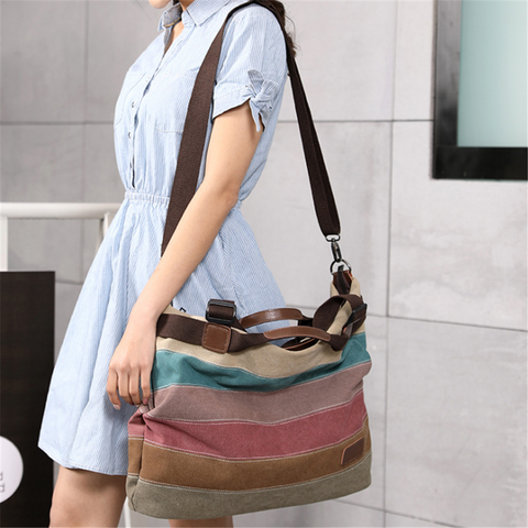 Women's Color Stitching Wild Handbag