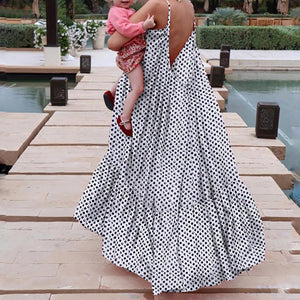 Glamorous Polka Dot Halter Maxi Dress