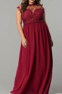 Plus-Size Fashion Sexy Lace Splicing Gauze Maxi Dress