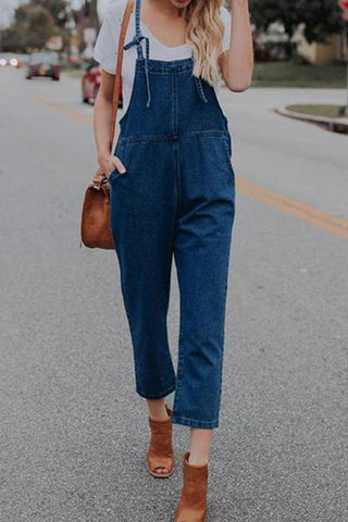 Fashion Suspender Denim Jeans Pants